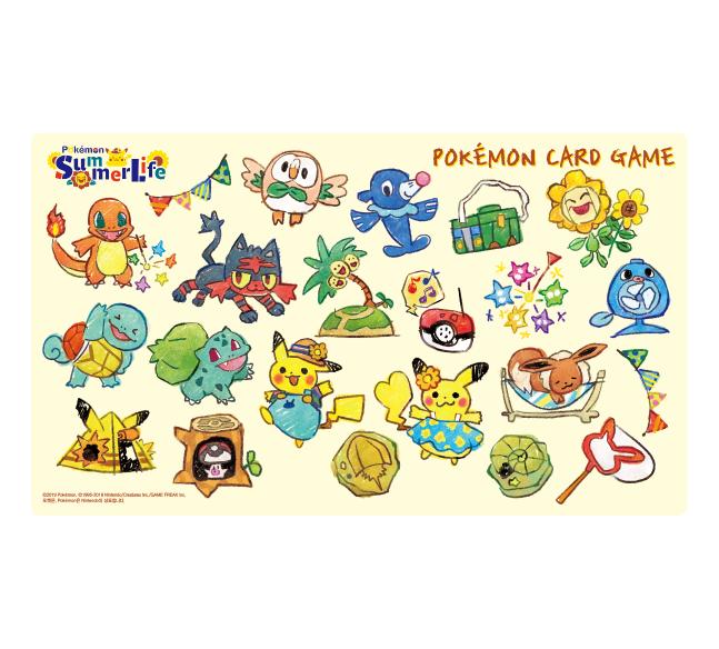 포켓몬 카드 게임 플레이매트 「Summer Life 크레파스」